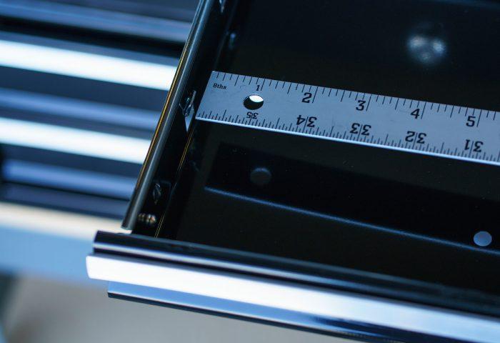 Measuring ToolLodge tool organizer is easy